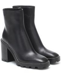 Jimmy Choo Mava 35 Leather Ankle Boots - Black