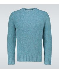 Éditions MR Jersey Duncan de lana y mohair - Azul