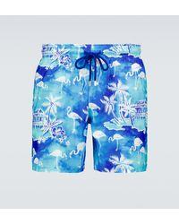 Vilebrequin Bañador tipo short Mahina con estampado - Azul