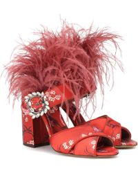 Tabitha Simmons - X Johanna Ortiz Reyner Feather-trimmed Sandals - Lyst