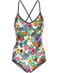 Gucci Pop Flora Printed Swimsuit - Multicolour