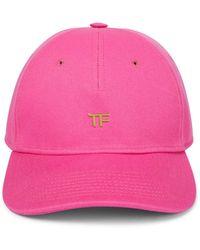 Tom Ford Tf Cotton Baseball Cap - Pink