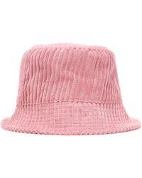 Isabel Marant Haley Corduroy Bucket Hat - Pink
