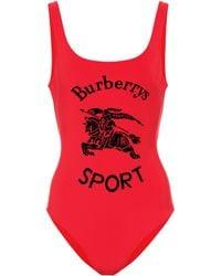 Burberry Bañador - Rojo
