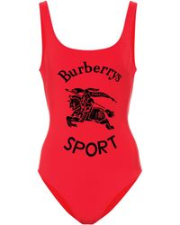 Burberry Badeanzug - Rot