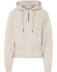 Brunello Cucinelli Ribbed Cashmere Hoodie - Natural