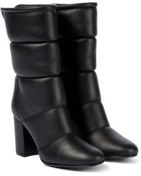 Gianvito Rossi Husky 85 Leather Ankle Boots - Black