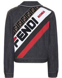 best website 87a59 417c3 MANIA - Giacca di jeans con logo - Blu