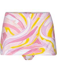 Emilio Pucci Bedrucktes Bikini-Höschen - Pink