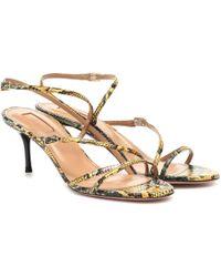 Aquazzura Carolyne 60 Snakeskin Sandals - Multicolour