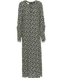 Marni Vestido de crepé con estampado floral - Negro