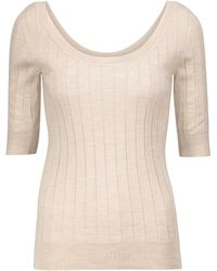The Row Pullover Colombe mit Seidenanteil - Natur