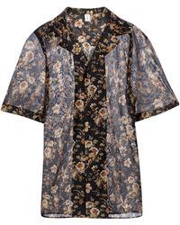 Sir. The Label Camisa Amerie de algodón y seda - Negro