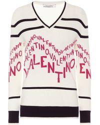 Valentino Exklusiv bei Mytheresa – Pullover aus Wolle - Pink