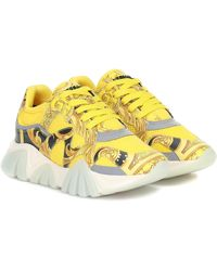 Versace Squalo Trainers - Yellow