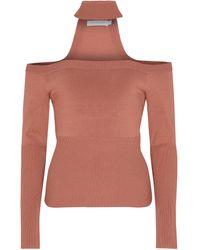 Jonathan Simkhai Off-Shoulder-Pullover Lila - Braun