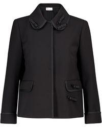 RED Valentino Stretch-cady Jacket - Black