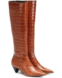 MERCEDES CASTILLO Donique Leather Knee-high Boots - Brown
