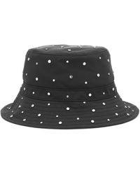 Ganni Studded Nylon Bucket Hat - Black