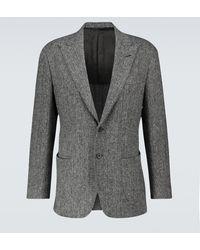 Thom Sweeney Blazer de lana Harris Tweed - Gris