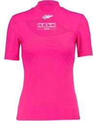 Off-White c/o Virgil Abloh Logo Stretch-jersey T-shirt - Pink
