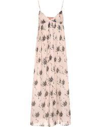 Brock Collection Vestido midi de algodón estampado - Rosa