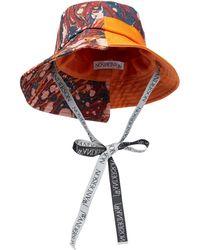 JW Anderson Printed Asymmetric Bucket Hat - Red