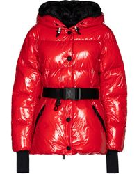 3 MONCLER GRENOBLE Fenis Hooded Down Jacket - Red