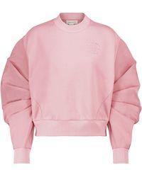 Alexander McQueen Sweatshirt aus Baumwolle und Faille - Pink