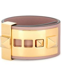 Valentino - Rockstud Leather Cuff - Lyst