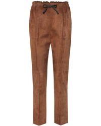 Fendi Suede Pants - Brown