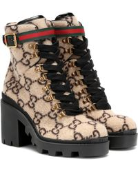 Gucci Botas De Fieltro De Lana 70Mm - Neutro