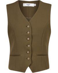 Frankie Shop Buttoned Vest - Green