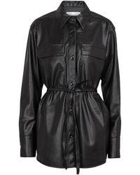 Proenza Schouler Faux Leather Shirt - Black