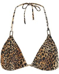 Melissa Odabash Cancun Cheetah Bikini Top - Multicolour