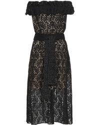 Stella McCartney Vestido de encaje - Negro