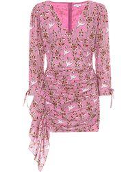 RHODE Minikleid Piper aus Baumwoll-Voile - Pink