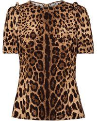 Dolce & Gabbana Top de cady estampado - Marrón