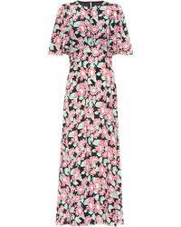Les Rêveries Floral Silk Maxi Dress - Pink