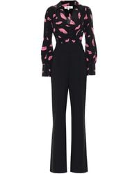 Diane von Furstenberg June Wool Wide-leg Jumpsuit - Black