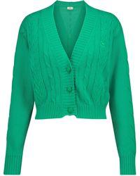 Etro Cardigan raccourci en coton - Vert