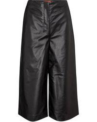 Altuzarra Pantalones anchos de piel - Negro