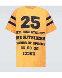 Gucci T-shirt 25 en coton à imprimé - Jaune