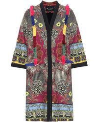 Etro Soprabito in tweed di cotone con frange - Multicolore