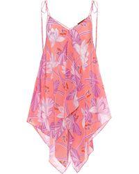 Loewe Paula's Ibiza - Top a stampa in seta - Rosa