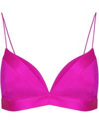Alex Perry Kane Satin Bralette - Pink