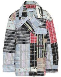 Ganni Giacca di jeans trapuntata - Multicolore