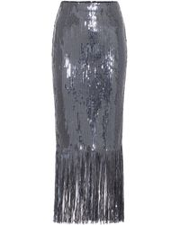 Rebecca Vallance Matisse Sequined Midi Skirt - Grey