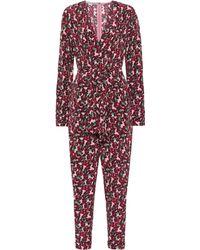 Stella McCartney Bedruckter Jumpsuit aus Seide - Pink