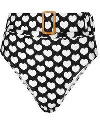 Alexandra Miro Exclusive To Mytheresa – Ursula Heart-print Bikini Bottoms - Black